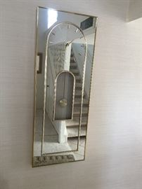 Mirror Clock  approx  4 ft ht  18 inch wide