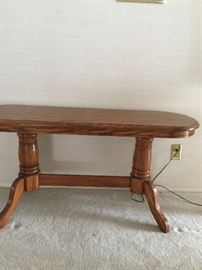 Wooden table  approx 26 ht  54 wide  17 depth