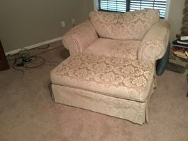 Extra large chair & other ottoman