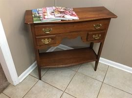Small occasional table with drawers & shelf