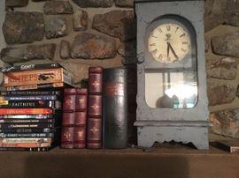 Clock, books, movies