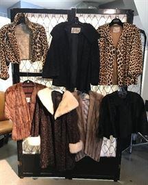 Vintage Furs, Mink, Curly Lamb Leopard etc.