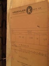 Kroehler tag on bottom of recliner