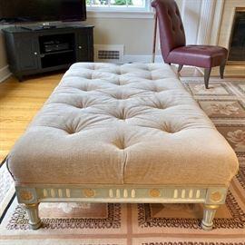 Donghia Designer Tufted Ottoman Table