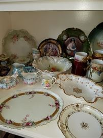 Back left corner is an RS Prussia berry set, other fine china for sale