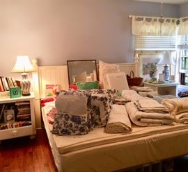 Linens, King Bed and Matching Nightstands