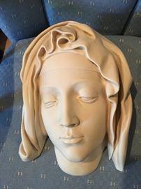 HEAD OF THE VIRGIN METROPOLITAN MUSEUM OF ART, PIETA MICHELANGELO