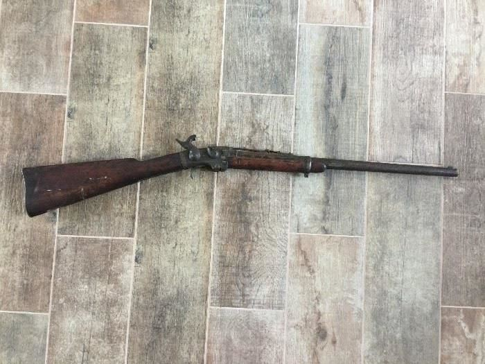 Smith's Patent Carbine, made circa 1863 by Massachusetts Arms Co, Antique CIVIL WAR Mass. Arms Smith CAVALRY CARBINE