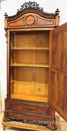 BEAUTIFUL ANTIQUE Rosewood and Mahogany Victorian Renaissance One Door Armorie  Located Inside – Auction Estimate $400-$800