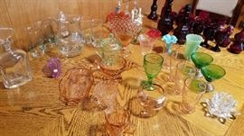 Various depression glass