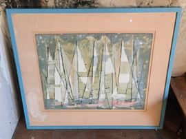 Modernist artwork by Laguna Beach artist Mary Asher.