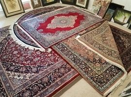 8 rugs from India, Persia, Turkey includes 3 runners