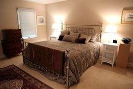 beautiful chrome finish bed