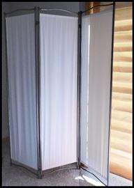 Dressing Screen stretches out to approximately 54 inches. It is 70 inches tall. Lightweight and easy to move.