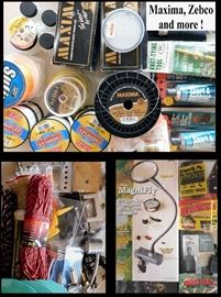 Fishing knot tying tools, Magnifly Flex Light, Fishing Line including Bionic Walleye Fishing Line from Northland.