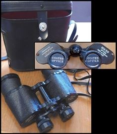 Binoculars with case.