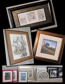 ART:  Framed wall art prints includes Matisse, Landscapes, Paris, Black and White Photos .