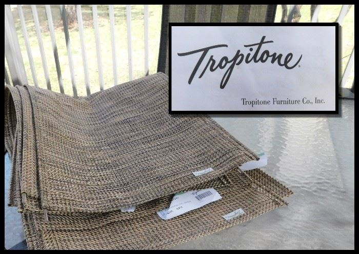 Six New Replacements for the patio chairs made by Tropitone, known for their quality products.