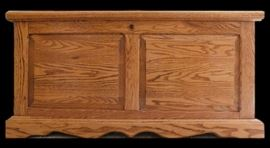 Amish crafted cedar chest 42 w x 19 d x 21 h.
