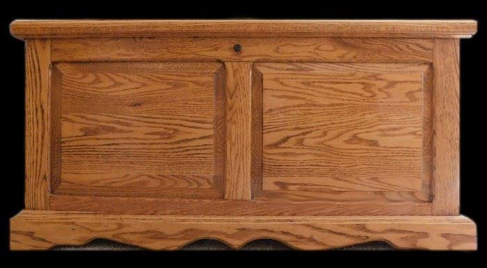 Amish crafted cedar chest 42 w x 19 d x 21 h.