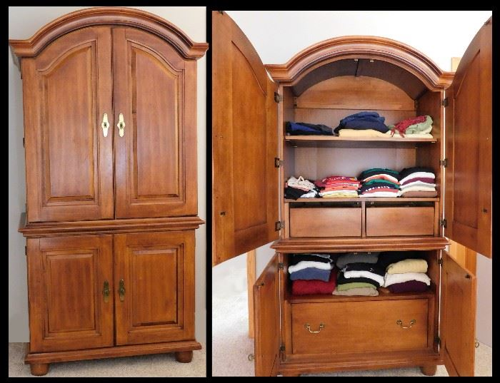 Armoire 37 w x 77 h.