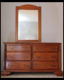 Dresser is 55w x 18d x 31h and the mirror is 29w x 43h.