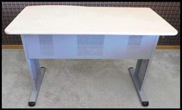Industrial style computer desk.