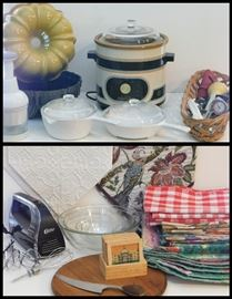 Sampling of more kitchen items and gadgets.