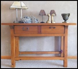 The perfect size table Attic Heirlooms 52w x 18d x 30h.