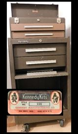 Kennedy Manufacturing Company Model 220 Tool Box made in Van Wert Ohio.