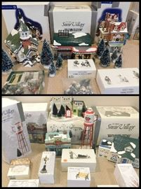 Dept 56 Snow Villages including Rollerama Roller Rink, Mainstreet Pharmacy, Church, Red Cup Cafe and Water Tower plus accessories.