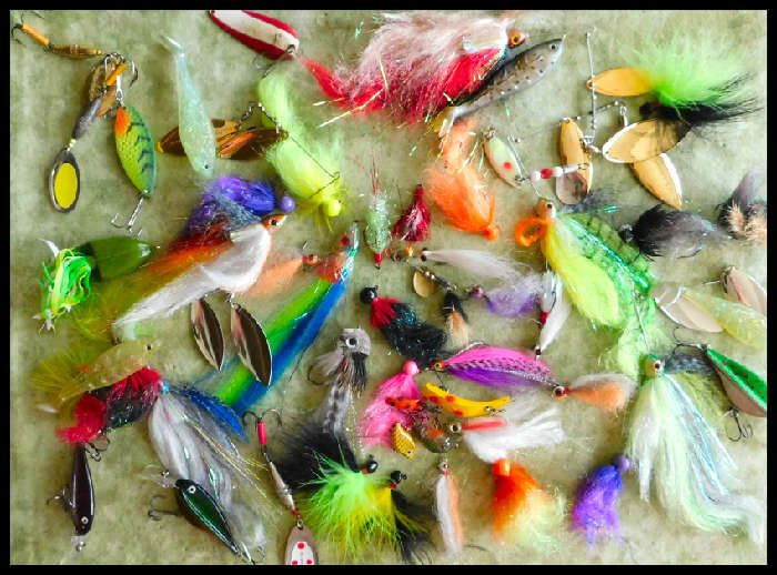 Fishing Art lures and feathery attractions.