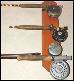 Antique Fishing Fly Rods including a Pfleuger Medalist.