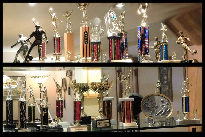 TROPHIES Those must be hard to part with . We hear that folks are getting a new plaque and upcylcing these for birthday gifts.