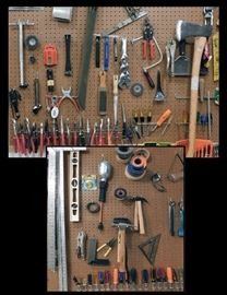 A wall full of tools.