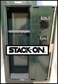 Stack-on gun safe.