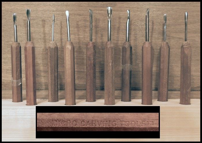 Micro carving tools.  Made in USA.