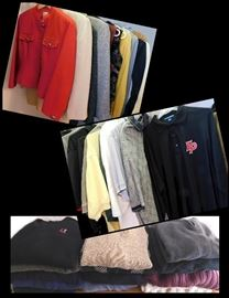Clothing including Croft and Barrow, PGA Touring Sweater,  Hemmerich, Ralph Lauren, Woods and Gray and sports shirts with Eden Prairie Logos.