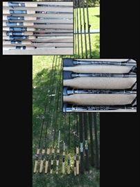 Graphite fishing rods.