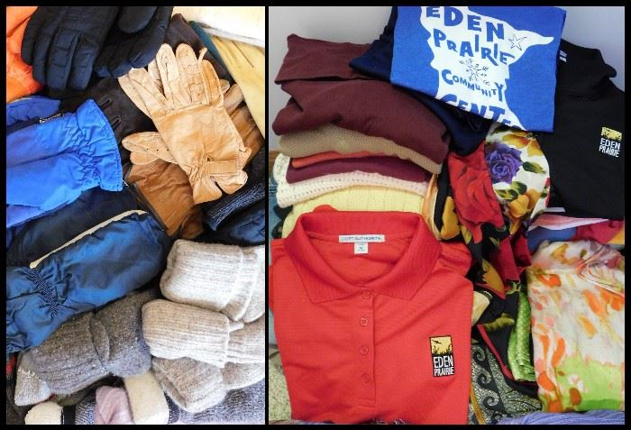 pl Clothing including scarves sox and Eden Prairie shirts