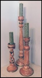 Candle sticks and holders