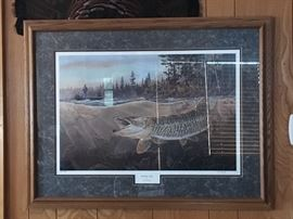 """Muskie Bay"" by Terry Doughty  Signed and numbered 267/3500"