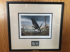 Ducks Unlimited - Single stamp  Ralph J McDonald  Signed and numbered DU 1982/5000