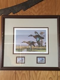 Ducks Unlimited Double stamp. David Noll signed and numbered DU 2686/4200