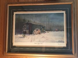 """Boxcar Brush and Deer"" by Les Kouba                                     Signed and numbered 952/2500"