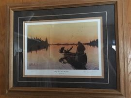 """Moose Liver for breakfast"" by Les Kouba                            Signed and numbered 1340/2500"