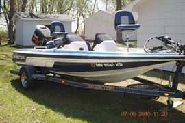 2005  SX190 Skeeter  Boat, motor and trailer               150H Yamaha two stroke motor.  Minn kota trolling motor. Includes Lorenz fish locator and GPS