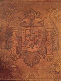 Spanish leather table detail