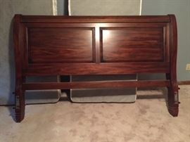 Sleigh bed headboard--King