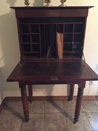 Country Sheraton desk -- open